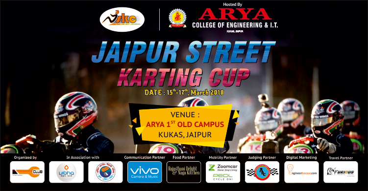 Arya College of Engineering and IT, Jaipur Street Karting Cup, Arya 1st Old Campus, Kukas, Speed Racing