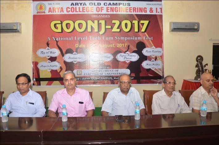 Arya_Goonj2017, arya college jaipur