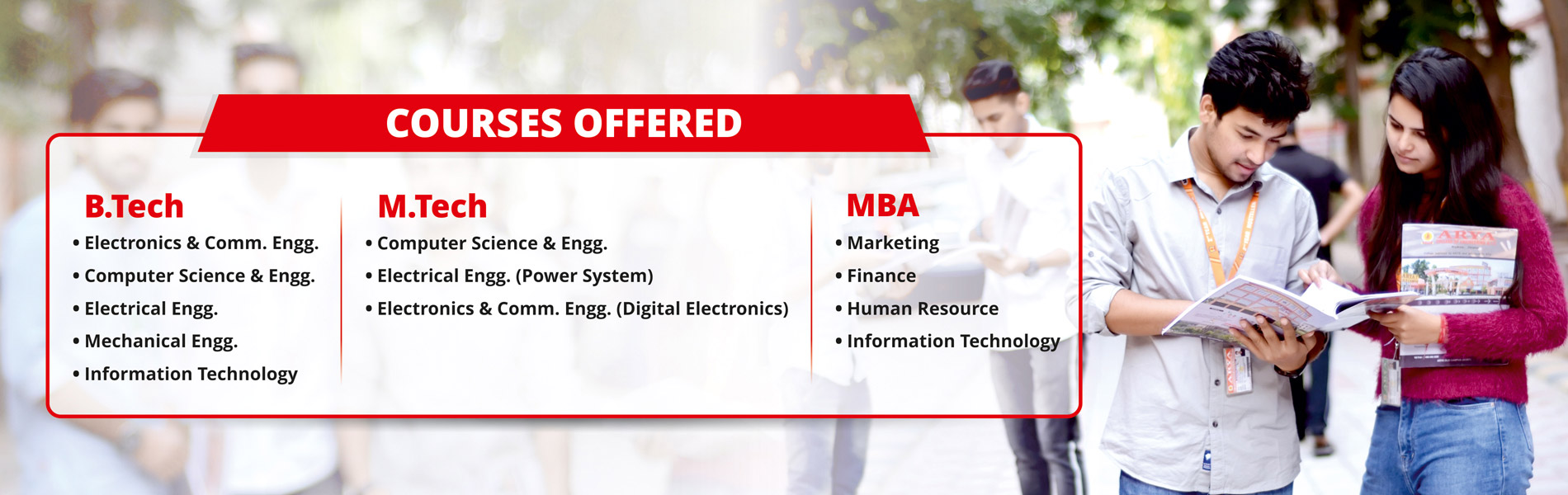 Courses Offered by Arya College of Engineering and IT
