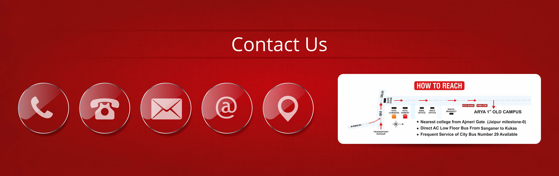 Contact details of Arya College Jaipur