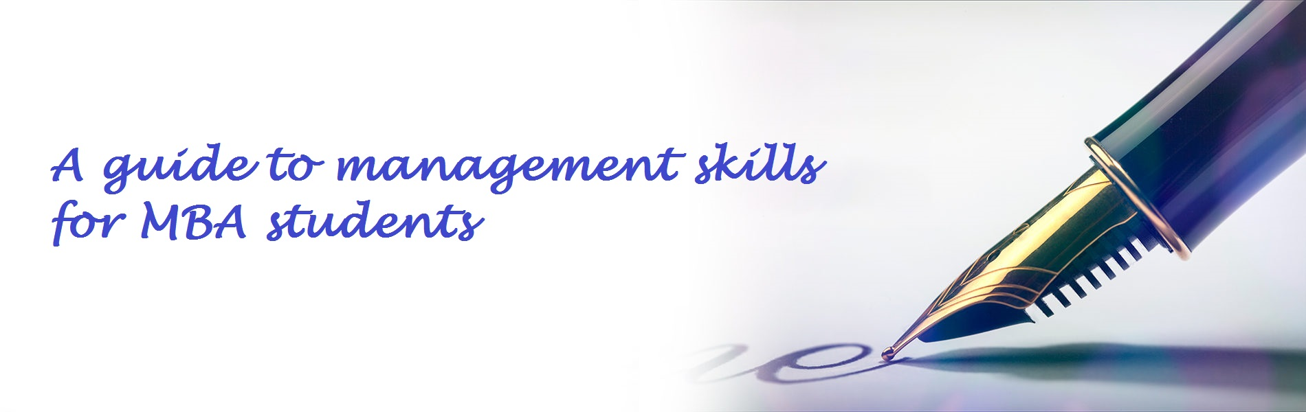 A guide to management skills for MBA students