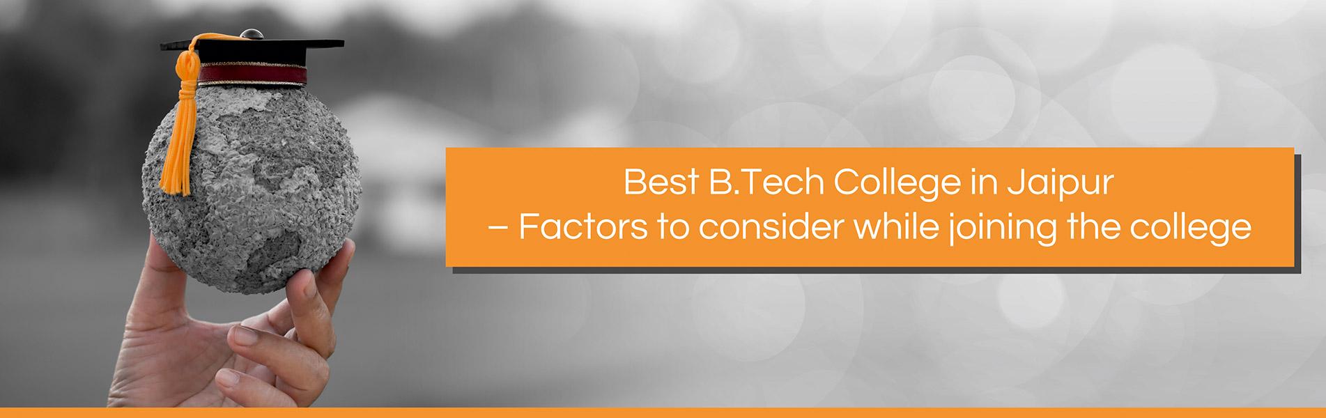 Best BTech College in Jaipur